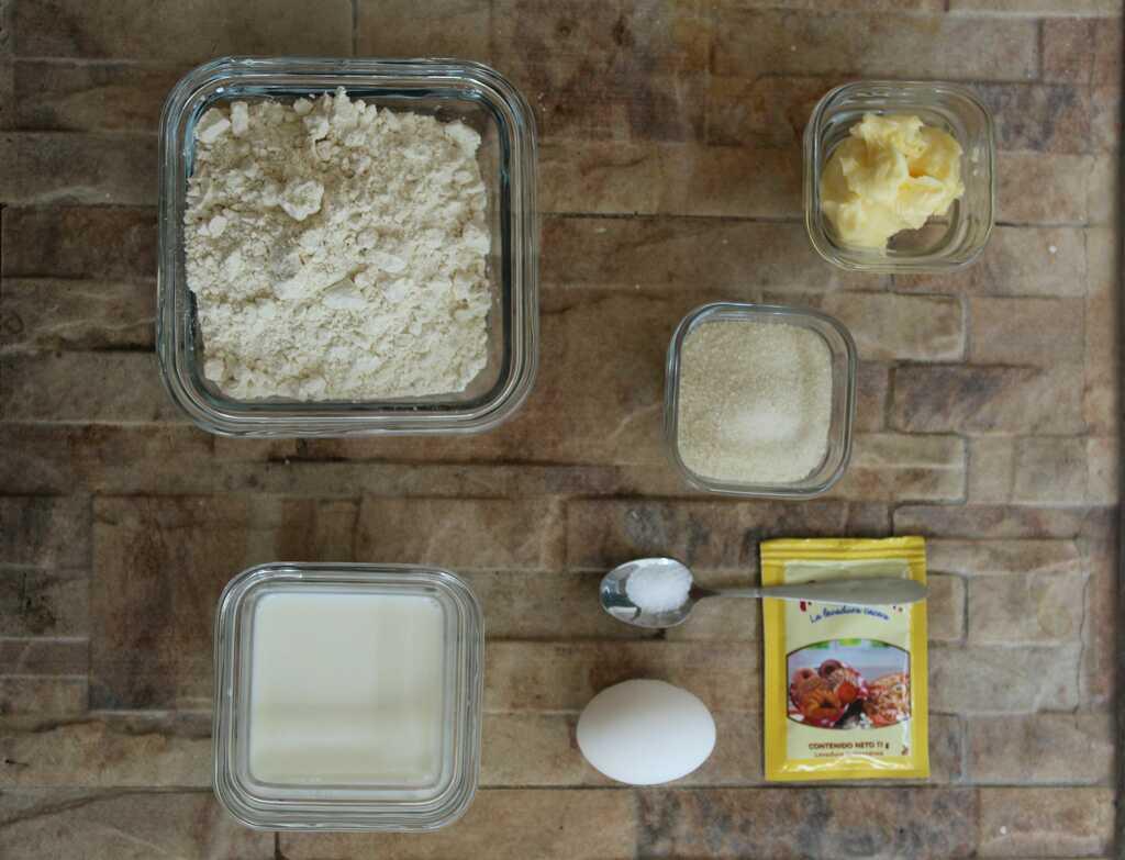 panecillos de leche ingredientes