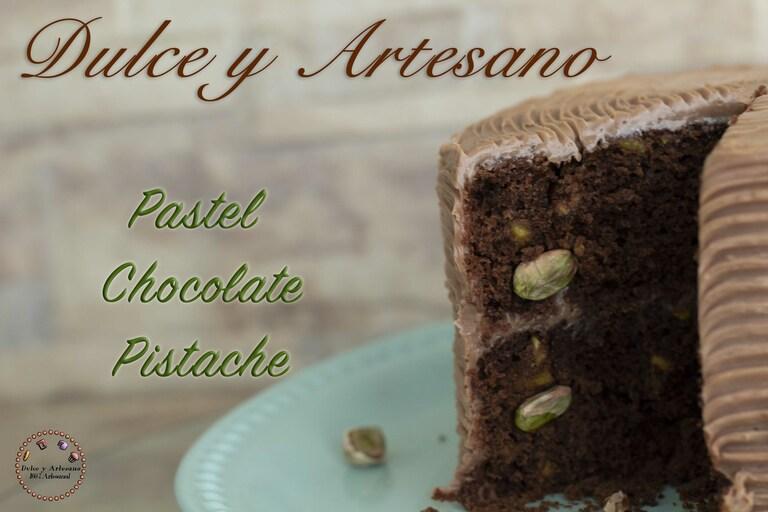 pastel 2 PASTEL DE CHOCOLATE PISTACHE