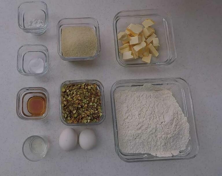 ingredientes galletas pistacho