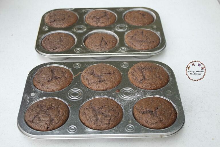 ingredientes muffins frutos rojos horneados