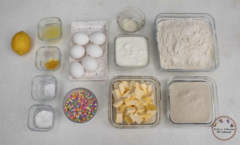 ingredientes pastel de cumpleaños
