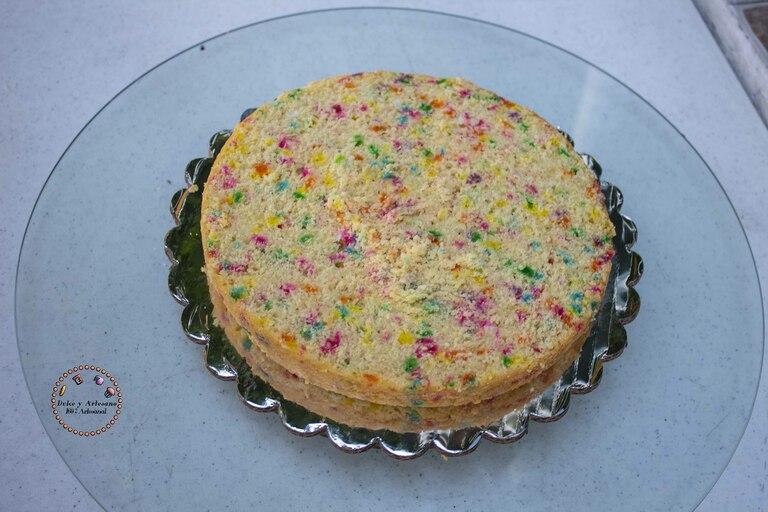preparacion pastel cumpleaños