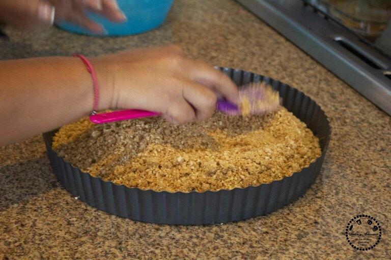 base galletas pay frio de frutas cheese cake