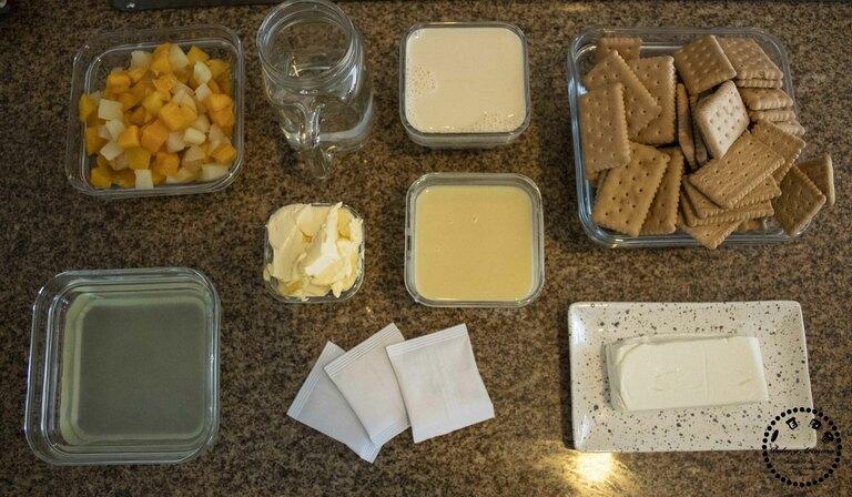 ingredientes pay frio de frutas cheese cake
