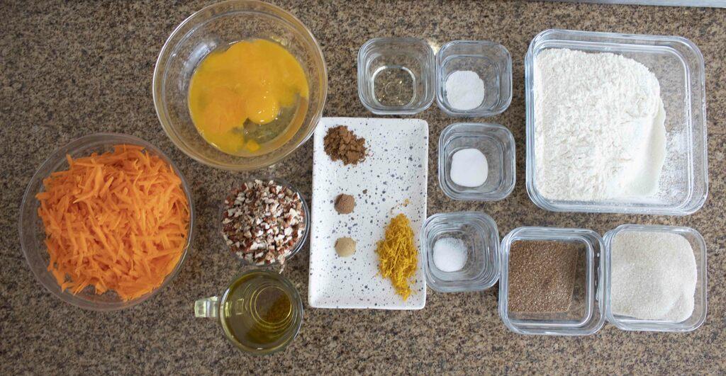 ingredientes principales pastel de zanahoria