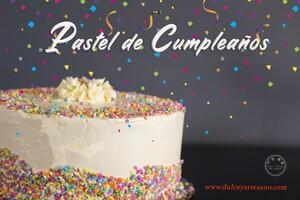 pastel cumpleaños confeti