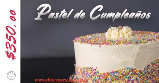 pastel de cumpleaños principal etiqueta 350