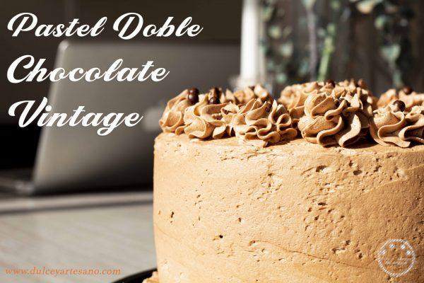 pastel doble chocolate vintage