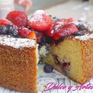 pastel tarta frutos rojos diabetico celiaco