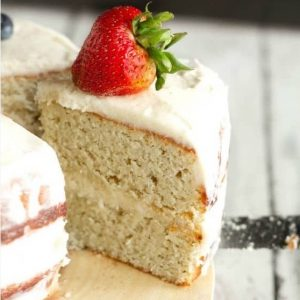 pastel de cumpleaños keto