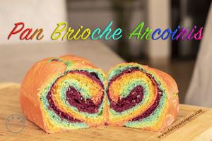 pan brioche arcoiris rustico